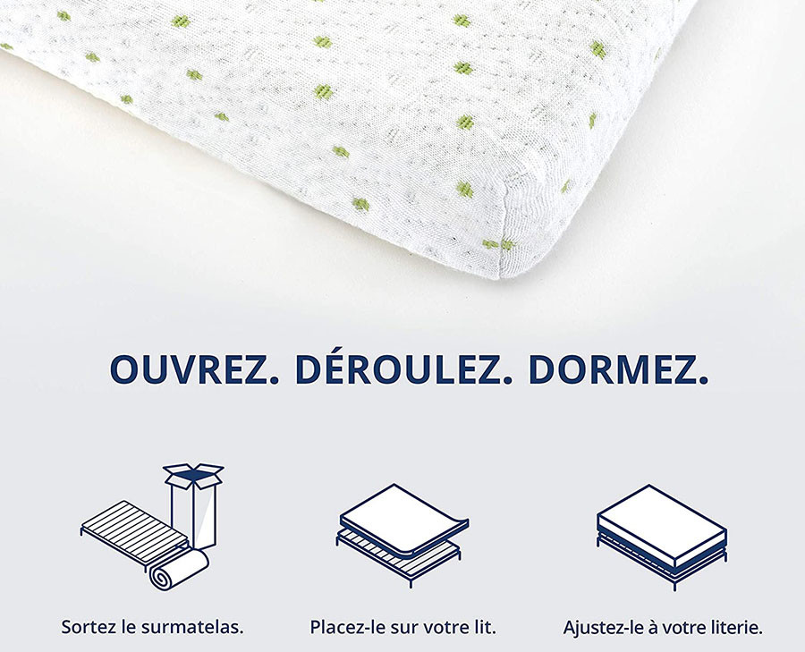 test ViscoSoft - Surmatelas 140 x 190 Mémo, Surmatelas Mémoire de Forme 5cm avec Aération Optimale