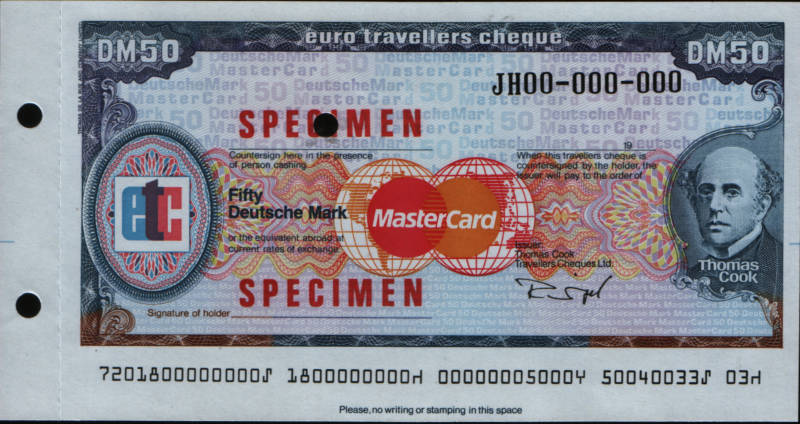 Mastercard Travelers Cheques 10