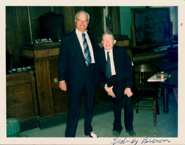 Fort Bend County Judge Sidney Brown And Judge G P Hardy