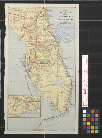 Map of Florida showing Seaboard Air Line Railway and connections     Map of Florida showing Seaboard Air Line Railway and connections