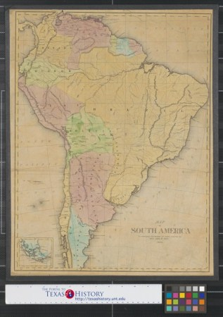 Map of South America to accompany the History of South America     Map of South America to accompany the History of South America