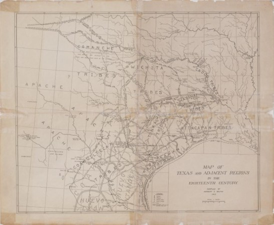 Map of Texas and Adjacent Regions in the Eighteenth Century   The     DescriptionBookmark this section  Map of Texas