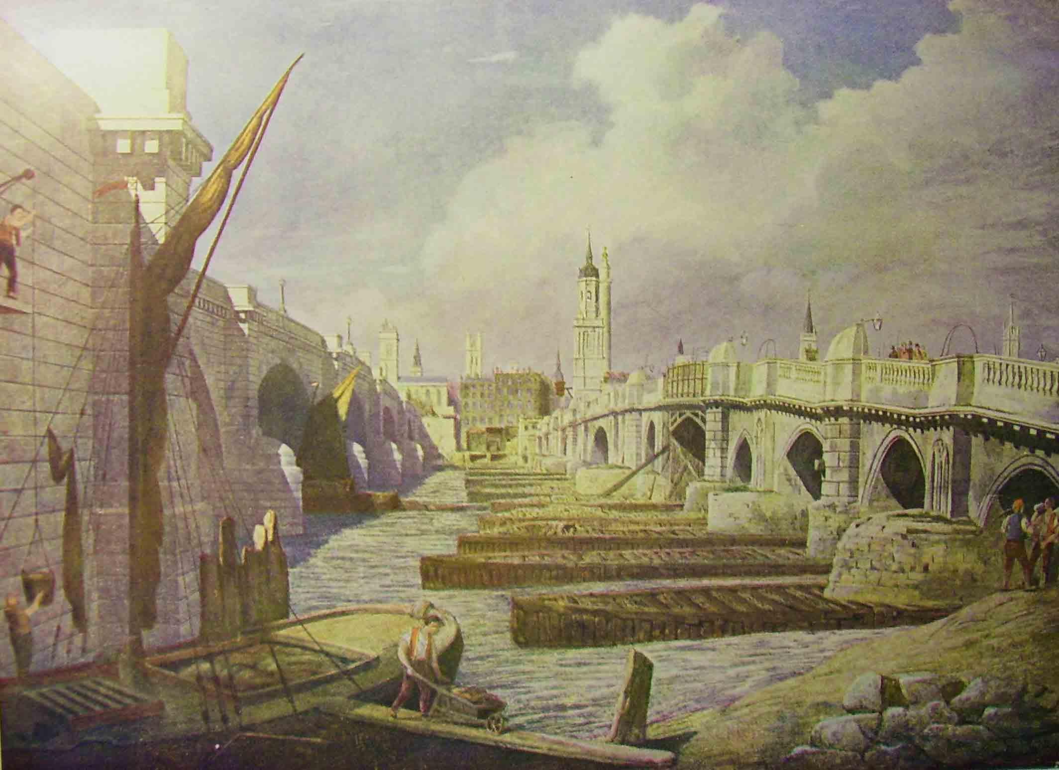 London Bridge 1825 To 1967 Where Thames Smooth Waters Glide