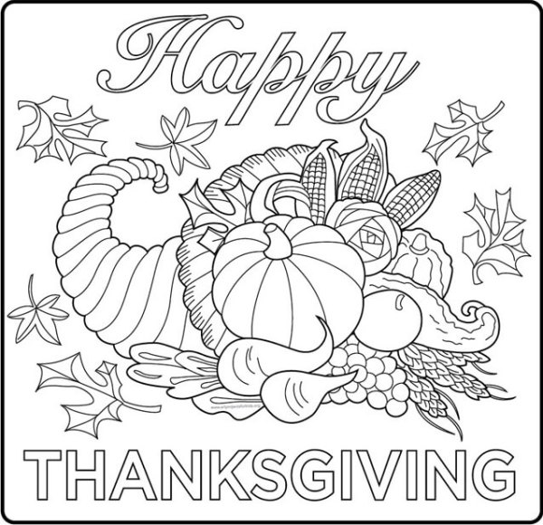 thanksgiving color pages free # 16