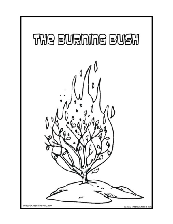burning bush coloring page # 8