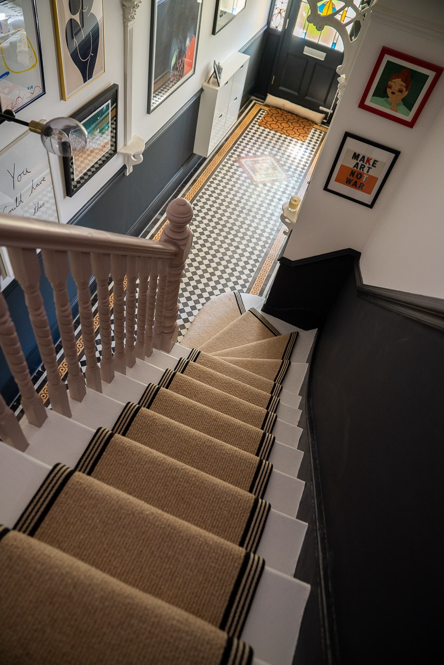 How To Achieve Your Perfect Stair Runner The Frugality | Average Cost To Carpet Stairs | Stair Case | Stair Runner | Hardwood Floors | Wood Flooring | Carpet Installation Cost