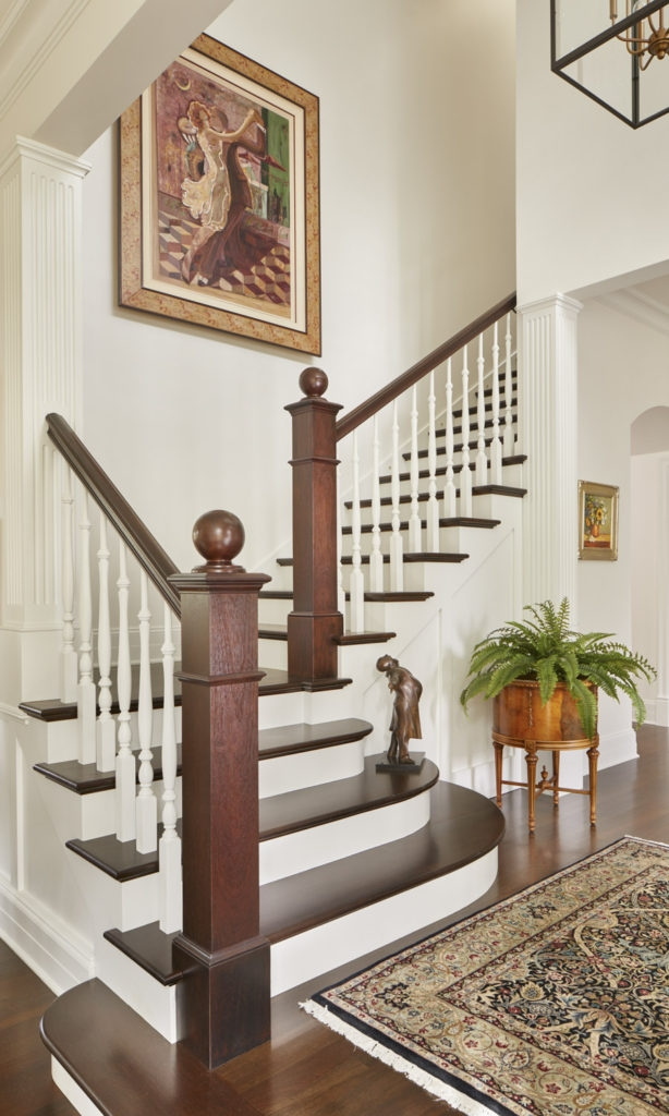 A Step Above Staircase Design Gelotte Hommas Drivdahl Architecture   Simple House Stairs Design   Staircase Woodwork   Separated   Family House   Outside   Low Budget