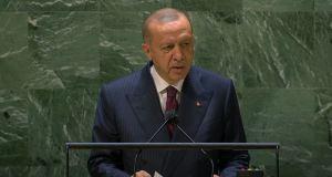 Turkey President Addresses UN General Debate, 76th Session