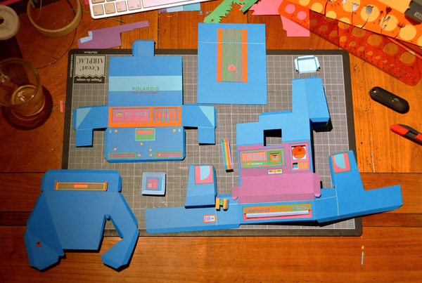 Papercraft Retro Gadgets The Awesomer