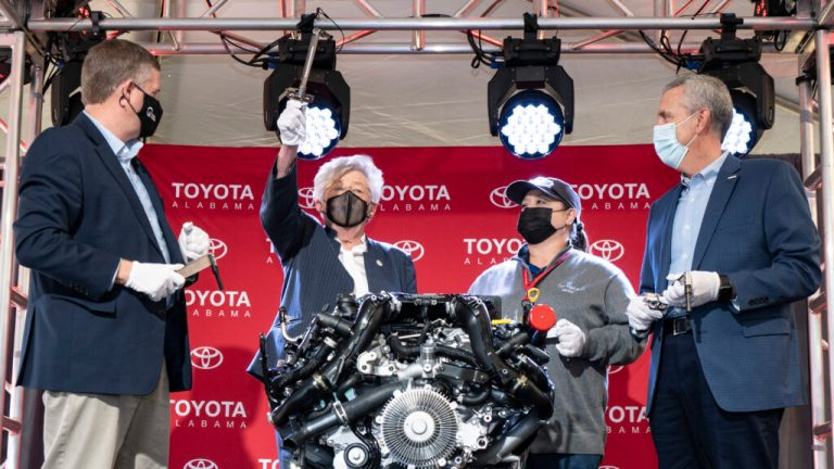 Toyota Alabama celebrates new twin-turbo engines + 20-year anniversary