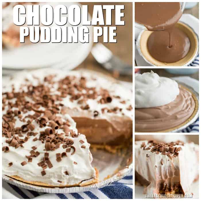 This No-Bake Chocolate Pudding Pie only takes 5 minutes, uses minimal ingredients to make, and your family is really going to love it!