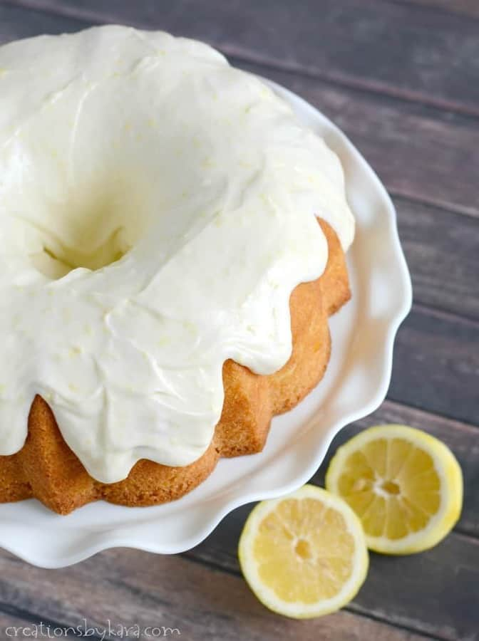 Lemon Bundt Cake with Lemon Cream Cheese Frosting . . . this buttery lemon cake is absolutely scrumptious, and the frosting is out of this world!