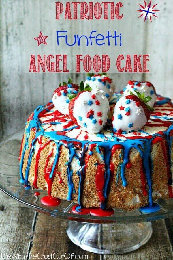 11 Patriotic Funfetti Angel Food Cake