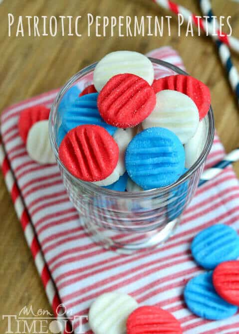 18 Red, White & Blue Patriotic Peppermint Patties
