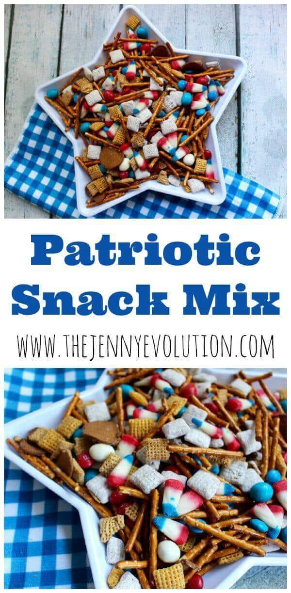 4 Patriotic Snack Mix Recipe
