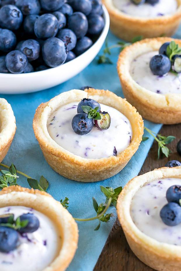 These Blueberry Cheesecake Cookie Cups make perfect use of those fresh summer berries!