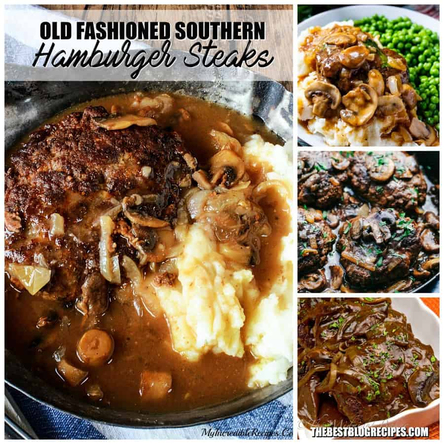 Old Fashioned Southern Hamburger Steaks