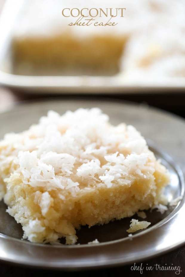 The hot frosting melts into the warm cake, making each bite infused with delicious coconut flavor. This cake literally MELTS IN YOUR MOUTH!
