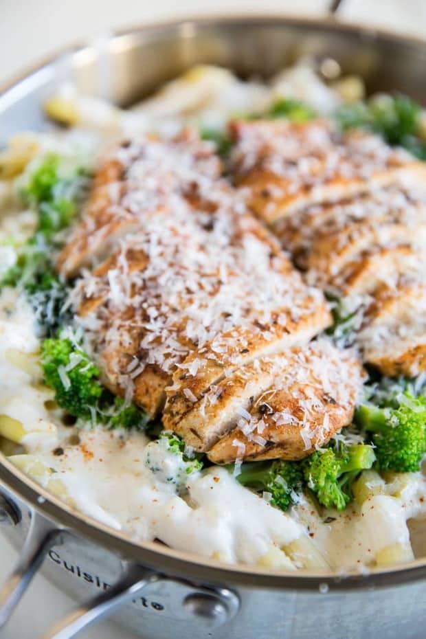 A popular restaurant dish, this Cajun Chicken Alfredo is updated with broccoli, homemade cajun seasoning, and the creamiest, cheesiest Alfredo sauce!