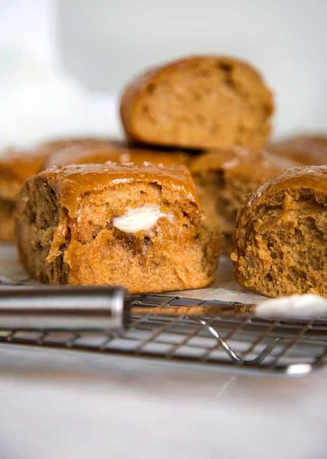 No mixer required and the honey and wheat flavor is a nice change from the regular white bread version. Grab a bowl and spoon and let's get to it, you have guests coming for dinner!