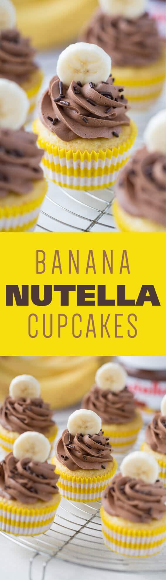 Banana Nutella Cupcakes