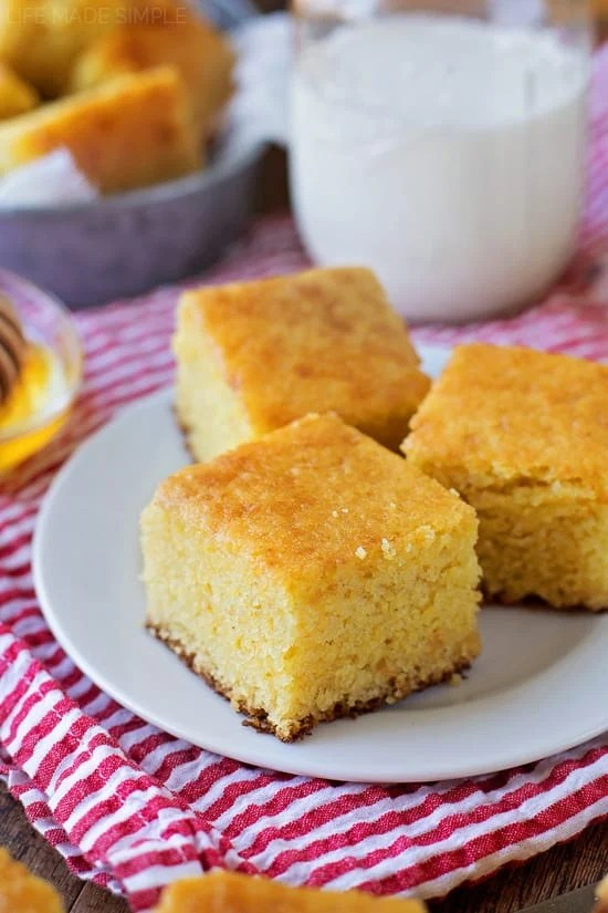 This buttermilk cornbread is moist, tender and oh so flavorful. It's perfectly sweet and bakes up beautifully every time. It's a winner!