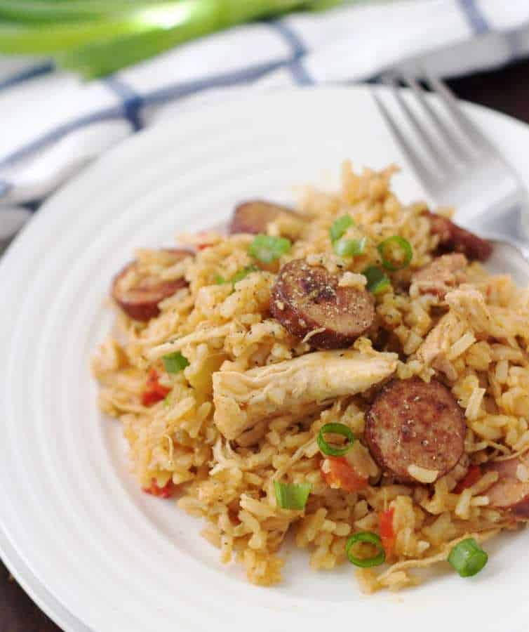 Smoked sausage paired with chicken and rice makes for a pretty fantastic, simple dinner. This Slow Cooker Southern-Style Chicken & Dirty Rice has quickly become a favorite of ours.