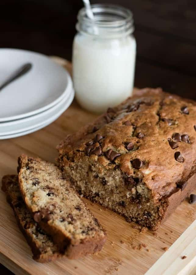 The best Chocolate Chip Banana Bread Recipe. This easy to make, super moist banana bread recipe will be your go-to recipe anytime you have overripe bananas on your counter! Did I mention that this is the Best Banana Bread recipe ever?