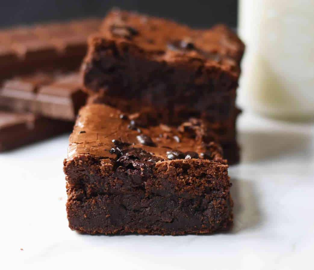 Gluten-Free Chocolate Fudge Brownies! You would never know this brownie is gluten-free. People go crazy for these chocolate brownies and when I tell them they are actually gluten-free, they are completely shocked.