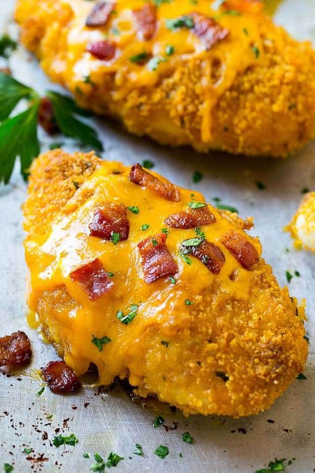 Baked Bacon Ranch Chicken--Part of The Best Chicken Bacon Ranch Recipes
