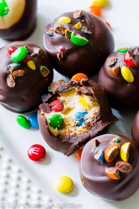 Peanut Butter M&M Truffles