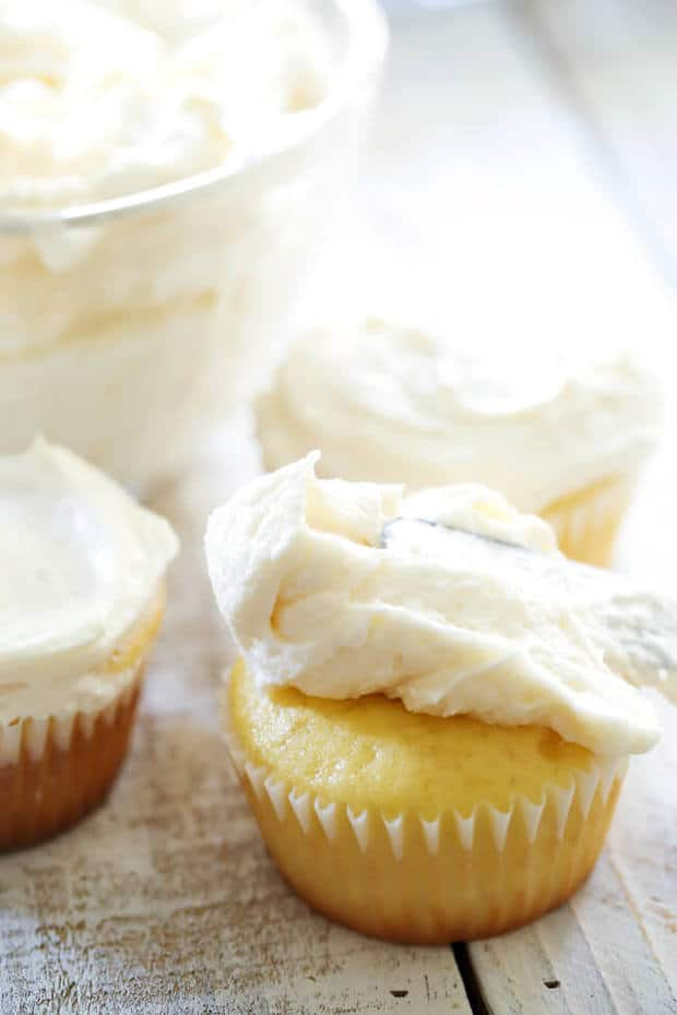 This Classic Buttercream Frosting recipe is perfection! Perfect consistency and perfect flavor! This is my go-to frosting recipe