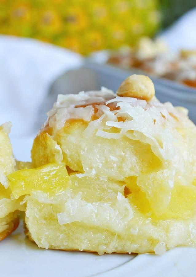 Pineapple Coconut Hawaiian Sweet Rolls