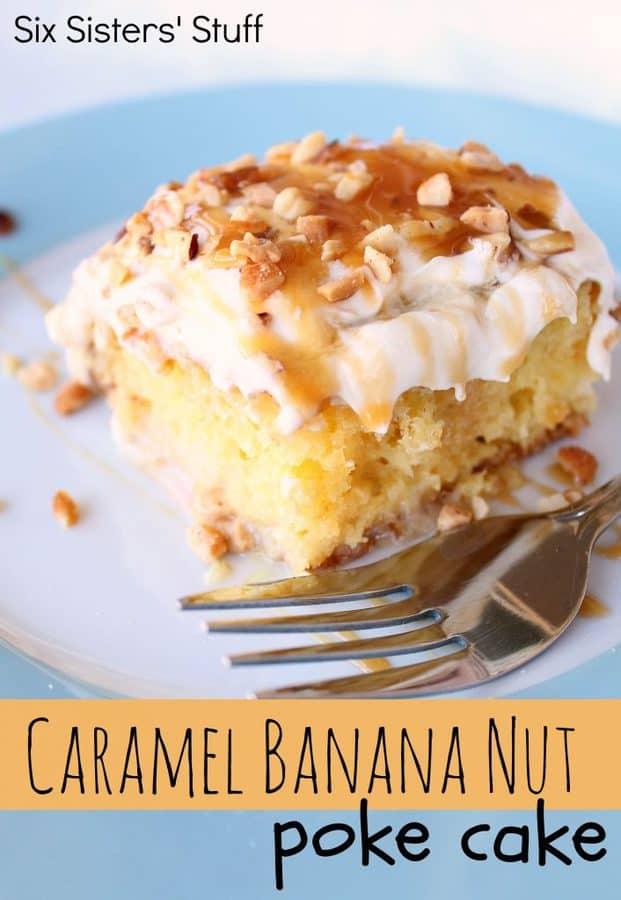CARAMEL BANANA POKE CAKE
