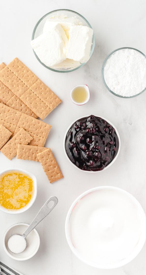 No Bake Blueberry Cheesecake Ingredients