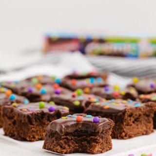 Cosmic Brownies on plate