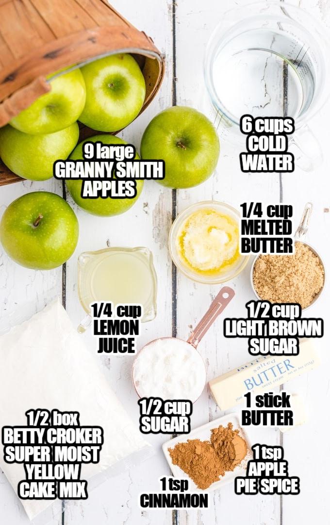 Apple Dump Cake Ingredients