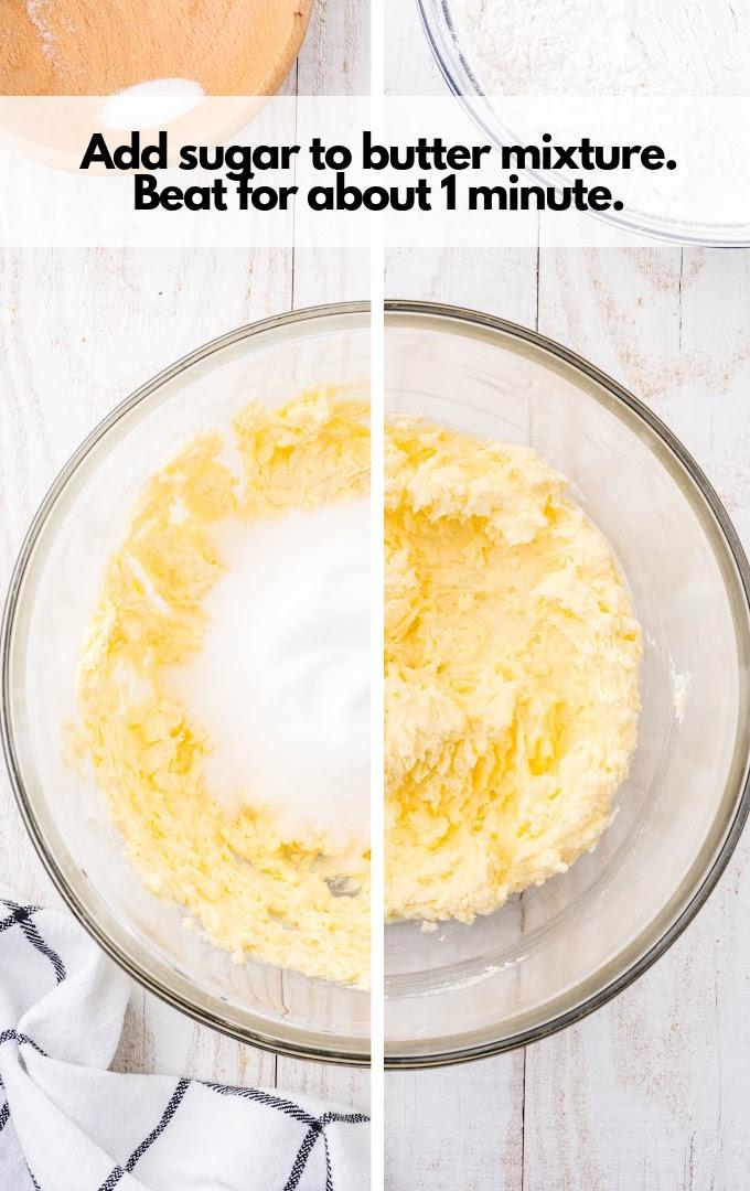 add sugar to butter mixture