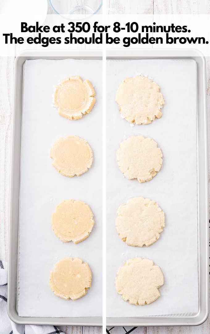 baked swig cookies dough