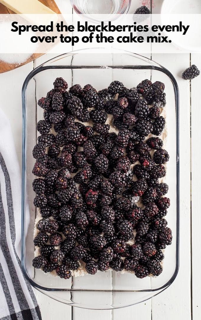 sprinkle sugar over blackberry