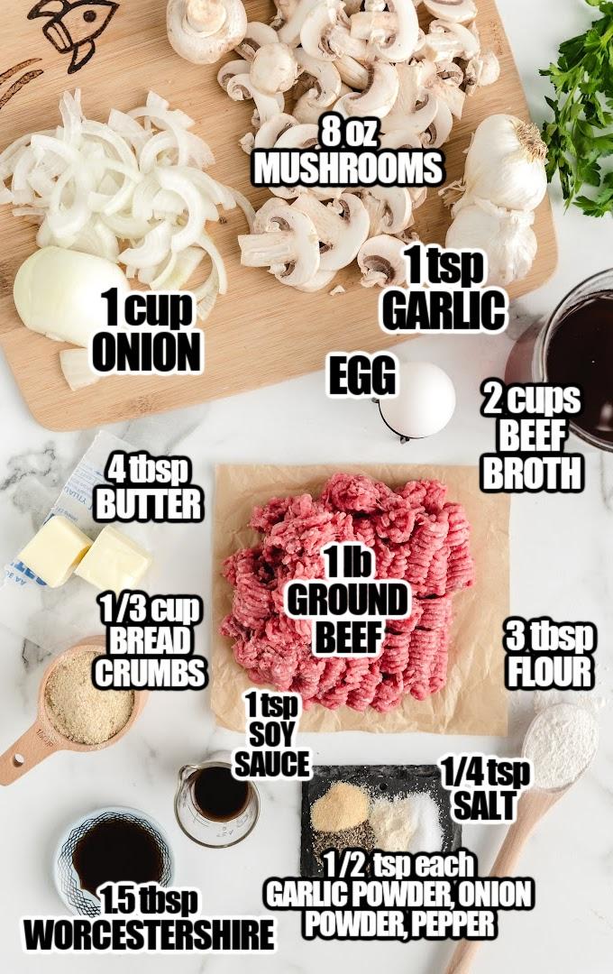 Hamburger Steak Ingredients