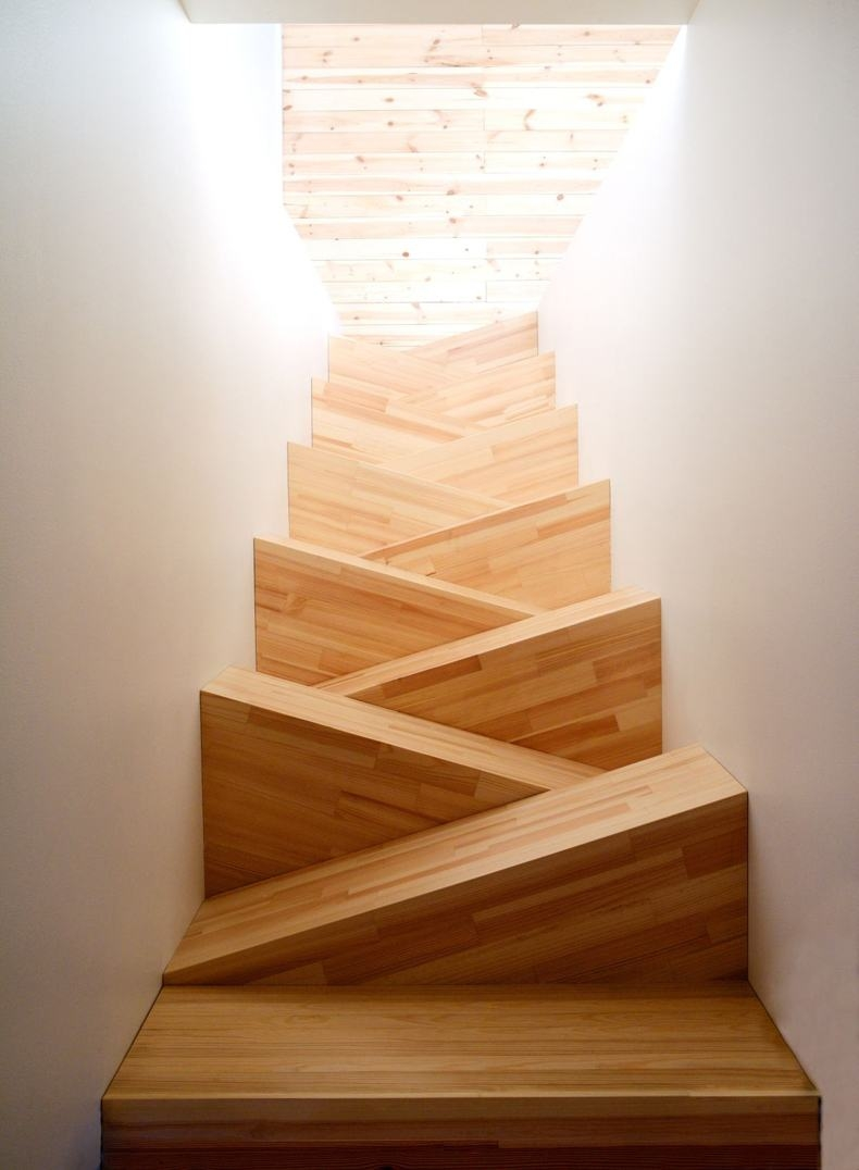 5 Awesome Small Stair Treads Ideas For Farmhouse Interior   Alternating Tread Stair Design   Staggered   Style   Wood   Multipurpose   Double Thickness Tread