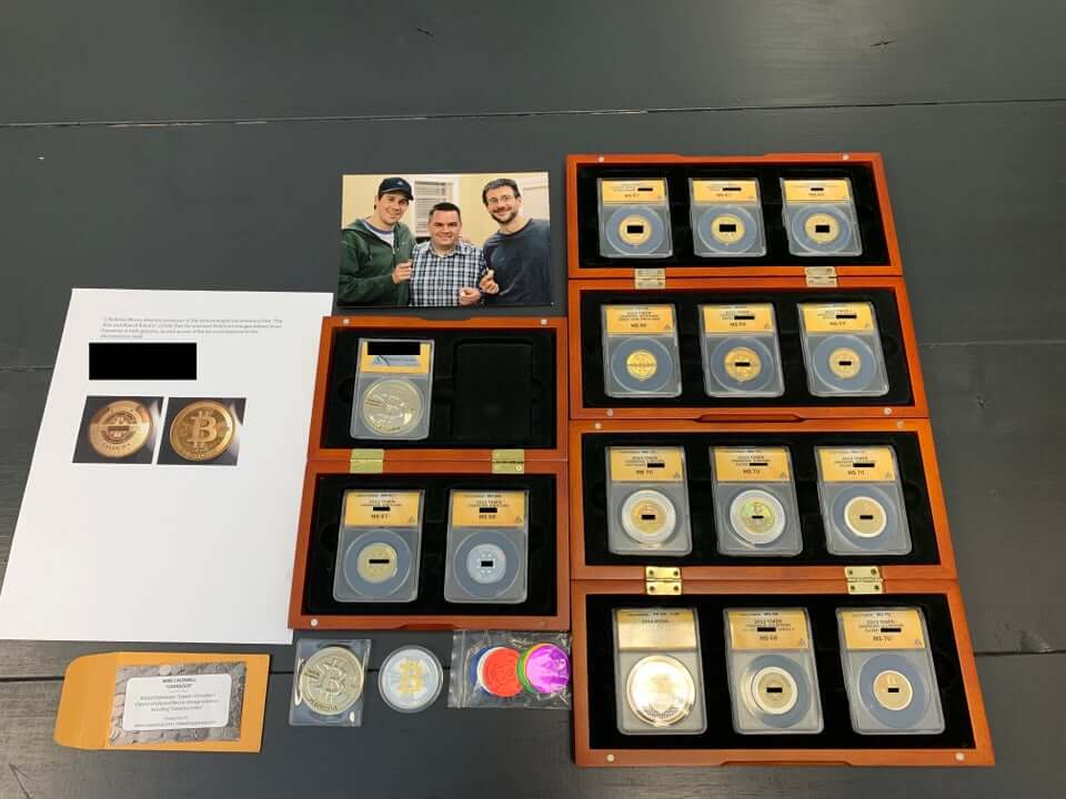 Casascius bitcoin collection