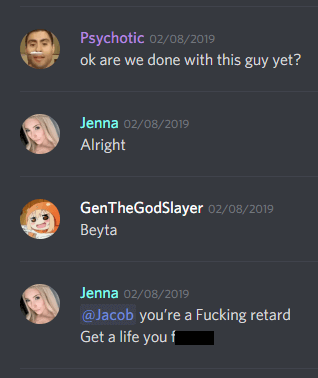 jenna twitch, discord chat log leak