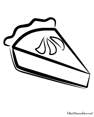 pie coloring page # 22