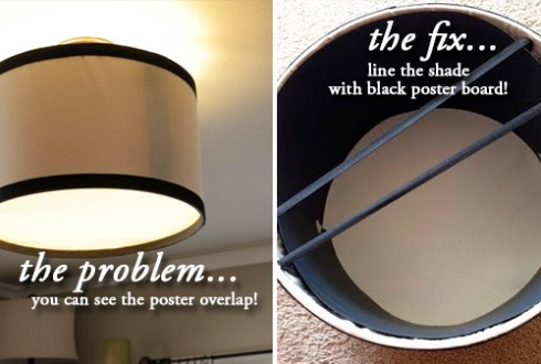 DIY Drum Pendant    Cover Up    Light     THE BLISSFUL BEE problem fix