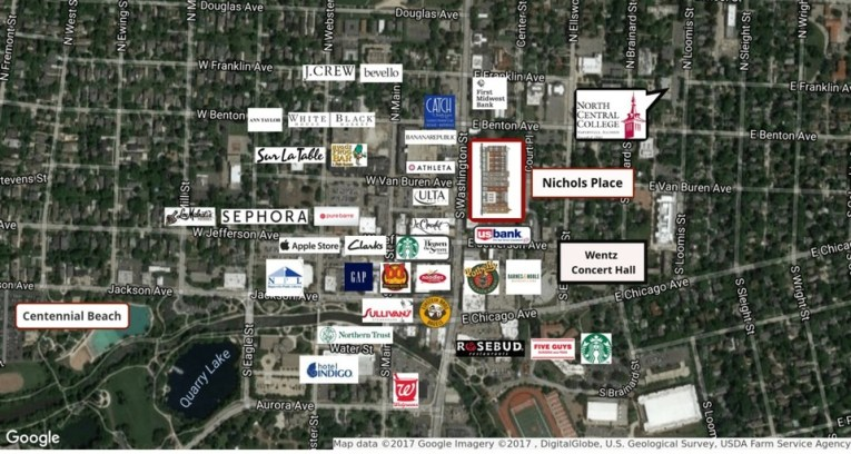 Nichols Place   Office   Mixed Use   110 S  Washington Street         60540 110 S  Washington Street  Naperville  IL  60540