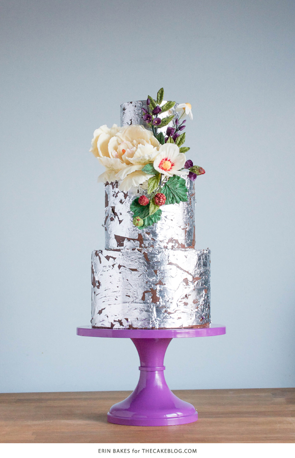 2015 Wedding Cake Trends 2015 Wedding Cake Trends   Organically styled florals made from chocolate    by Erin Bakes on