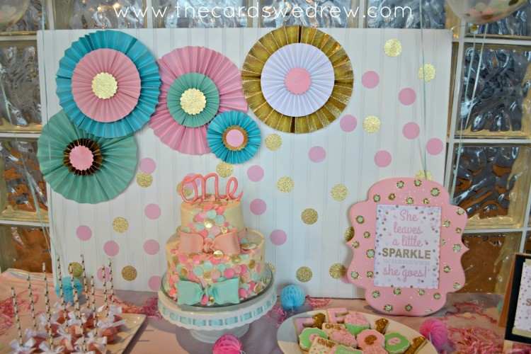 Mint And Birthday Pink Background