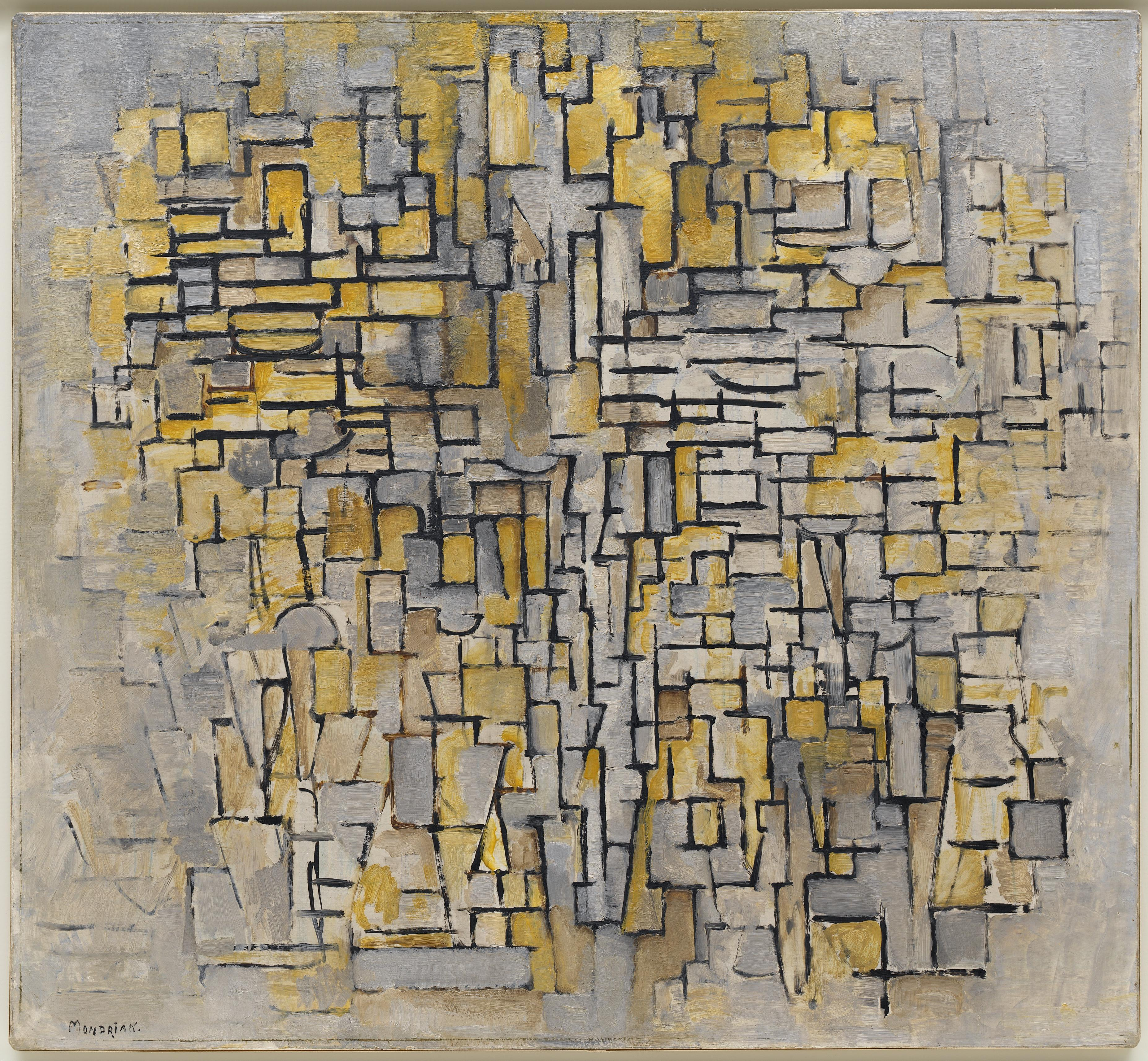 Mondrian  Order and randomness in abstract painting   The Charnel House Piet Mondrian Title Tableau No  2 Composition No  VII Work Type Painting  Date 1913 Material